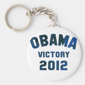 Barack Obama Victory 2012 Basic Round Button Keychain