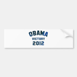 Barack Obama Victory 2012 Car Bumper Sticker