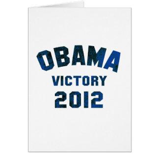 Barack Obama Victory 2012 Card