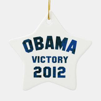 Barack Obama Victory 2012 Ceramic Ornament