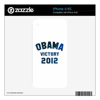 Barack Obama Victory 2012 iPhone 4S Decal