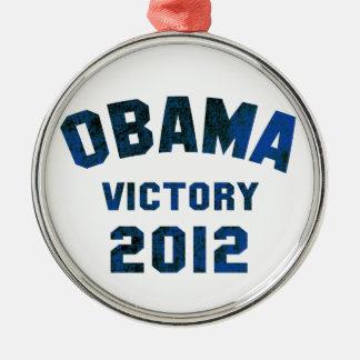 Barack Obama Victory 2012 Metal Ornament