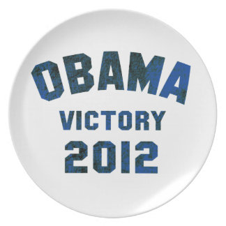 Barack Obama Victory 2012 Party Plate