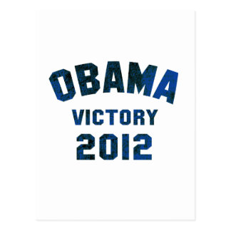 Barack Obama Victory 2012 Postcard