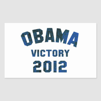 Barack Obama Victory 2012 Rectangular Stickers