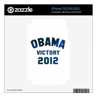 Barack Obama Victory 2012 Skin For iPhone 2G