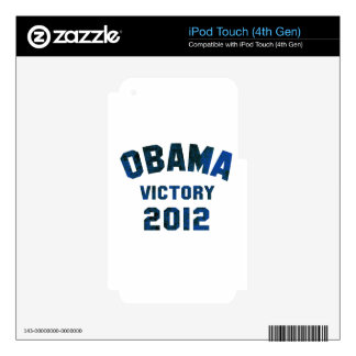 Barack Obama Victory 2012 Skins For iPod Touch 4G