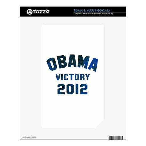 Barack Obama Victory 2012 Skins For The NOOK Color