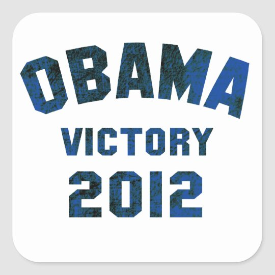 Barack Obama Victory 2012 Square Sticker