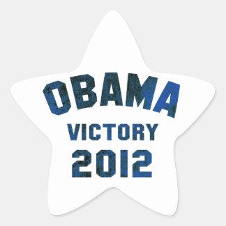 Barack Obama Victory 2012 Star Sticker