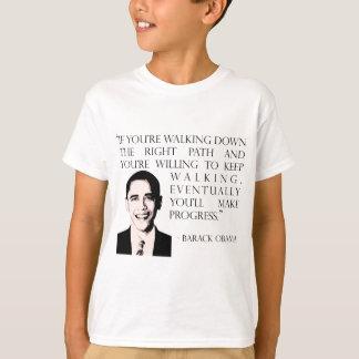 Barack Obama walking the right path girl's t-shirt