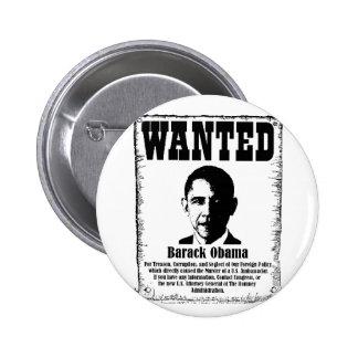 Barack Obama Wanted Poster Pins