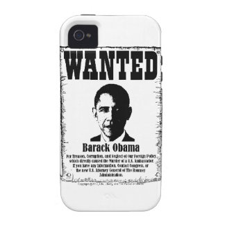 Barack Obama Wanted Poster iPhone 4 Cases