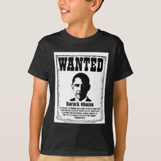 Barack Obama Wanted Poster T-Shirt