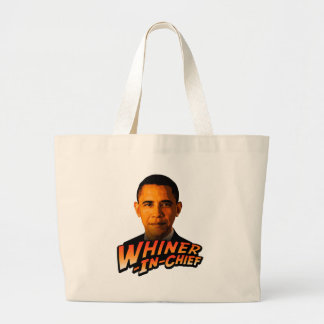 Barack Obama Whiner-In-Chief Canvas Bags