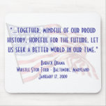 """Barack Obama """"Whistle Stop"""" Speech Mouse Pad"""