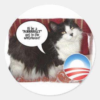 Barack Obama White-House Pet Classic Round Sticker