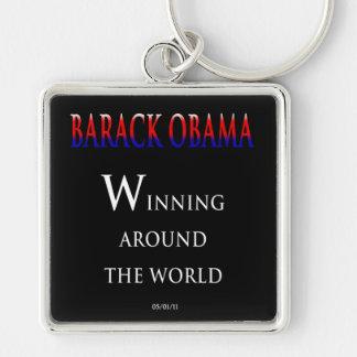 Barack  Obama Winning Around the World Keychain