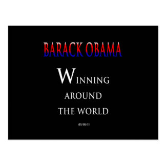 Barack  Obama Winning Around the World Postcard