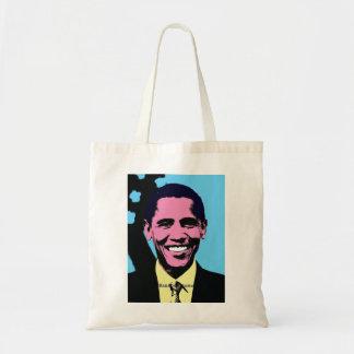 Barack Obama with Andy Warhol Pop Art Style Bag