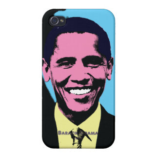 Barack Obama with Andy Warhol Pop Art Style iPhone 4 Covers
