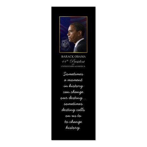 Barack Obama with JFK - Bookmarker Business Card