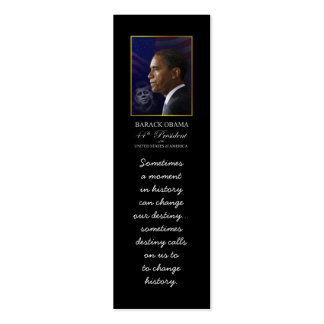 Barack Obama with JFK - Bookmarker Double-Sided Mini Business Cards (Pack Of 20)