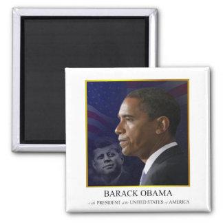 Barack Obama with JFK - Magnet