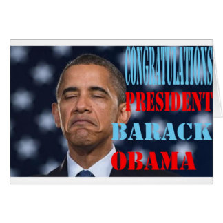 Barack Obama Won Card