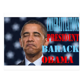 Barack Obama Won Postcard