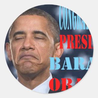 Barack Obama Won Round Sticker