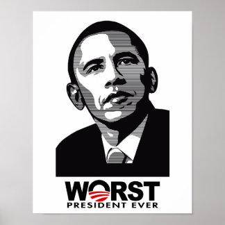Barack Obama Worst President Ever Poster