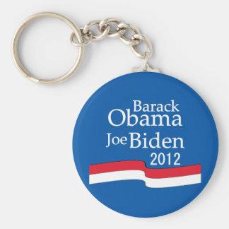 Barack Obama y Joe Biden Llavero Redondo Tipo Pin