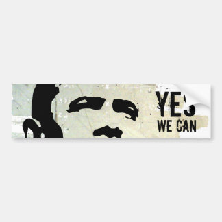Barack Obama: YES WE CAN concrete wall sticker Car Bumper Sticker