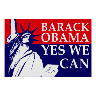 Barack Obama Yes We Can Poster