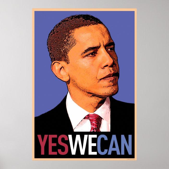 Barack Obama Yes We Can Poster Zazzle Com