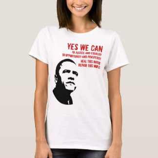 Barack Obama: YES WE CAN...rd T-Shirt
