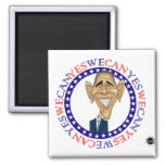 Barack Obama Yes We Can - Red and Blue Magnets