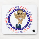 Barack Obama Yes We Can - Red and Blue Mouse Pads