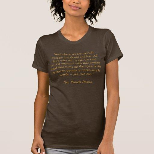 "Barack Obama ""Yes We Can"" Speech T-Shirt"
