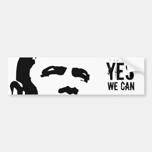 Barack obama yes we can sticker zazzle for Bett yes we can