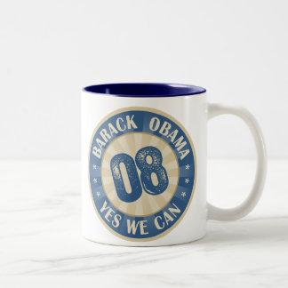 Barack Obama Yes We Can Two-Tone Coffee Mug