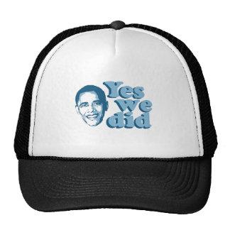 Barack Obama / Yes We Did Hats