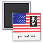 Barack Obama, your text here fridge magnet
