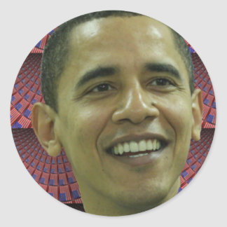 Barack Obama's Face Classic Round Sticker