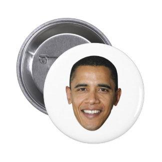 Barack Obama's Face Pinback Button