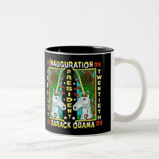 BARACK OBAMA'S INAUGURATION DAY Two-Tone COFFEE MUG