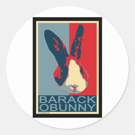 Barack Obunny Classic Round Sticker