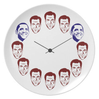 """""""Barack O'clock"""" Dinner Plate"""