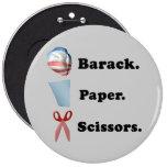 Barack. Paper. Scissors Button